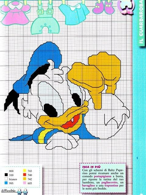 Baby Donald Duck point de croix (1)