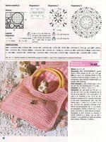 sac à  main crochet rose